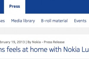 Press Release: Foxtons feels at home with Nokia Lumia