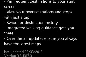 HERE Transit updated to v3.5.1017.0