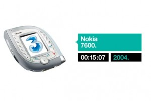 Video: A decade of 3G phones from Three – How many Nokias can you see?