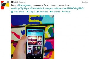 @Nokia fans loving #2InstaWithLove, Nokia putting more 'pressure' on @instagram to bring it to Lumia