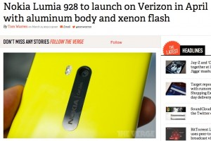 Aluminium Nokia Lumia 928 with Xenon Flash coming to Verizon launching in April