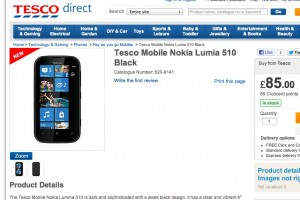Nokia Lumia 510 jumps in to Tesco at only £85 ('lumiNa' :/)