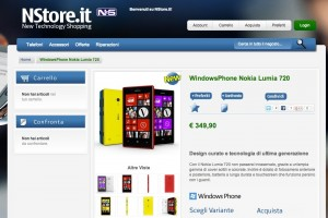 Nokia Lumia 720 on sale in Italy for €349.90