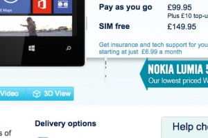 Nokia Lumia 520 only £99 at Carphone Warehouse (possibly unlocked too)