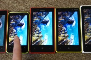 Video: Display comparison of the WP8 Nokia Lumia family