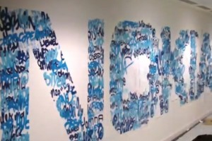 Weekend Watch: Nokia's twitter follower list into wall art – did you make it? :)