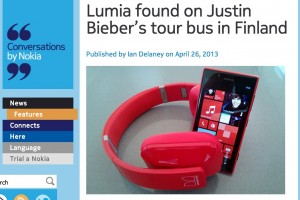 Justin Bieber, owner of a Red Nokia Lumia 720, 920 and Red Monster Nokia Purity Pro – Win some Purity Pros