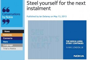Nokia reminds you about tomorrow's event. Recommends you to 'steel' yourself for the next installment