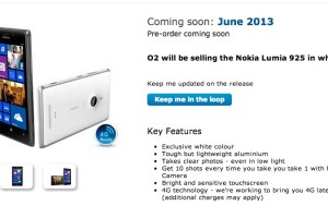 Nokia Lumia 925 Coming in June to Vodafone (32GB) O2 (White) and Three