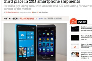 Windows Phone overtakes BlackBerry &#8211; now third place in smartphone shipments