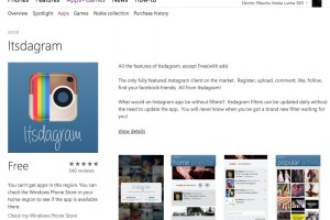 Itsdagram Free Instagram app available on Windows Phone store