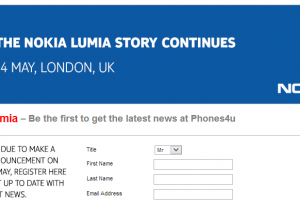 "Phones4u Teasing Nokia's May 14th Announcement, ""The Lumia Story Continues"""