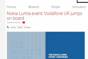 "Vodafone UK to stock New Nokia Lumia (Catwalk) ""big, bold and beautiful"" Next Chapter unveiled on 14 May London"