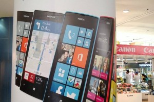 Nokia Lumia ads in Mall of Asia, Philippines