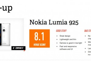 TheVerge Reviews the Nokia Lumia 925 – The best Windows Phone you can buy right now