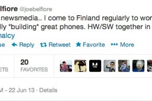 Joe Belfiore in Finland to work WITH Nokia on building great phones, NOT acquisition by MS.
