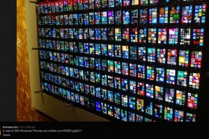 Mosaic Tile of Tiles: Wall of Windows (Phones) #TilesGalore