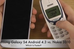 Weekend Watch: Samsung Galaxy S4 vs Nokia 3310 – speed test