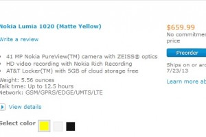 Lumia 1020 Priced $659 Off Contract (At&t locked?)