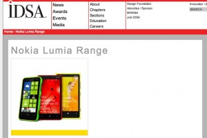 Nokia Lumia Range and Nokia Design both win Gold IDSA 2013 award, Nokia 206 wins a Bronze!