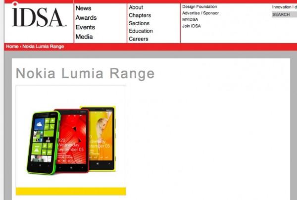 Nokia Lumia Range and Nokia Design both win Gold IDSA 2013 ...
