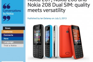 Nokia Launches new splash-proof 3.5G Nokia 207 and Nokia 208 (+Dual SIM variant) – perfect secondary handset?
