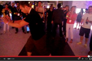 Nokia's Adam Giles bustin' a move at #ZoomParty (filmed on Nokia Lumia 925 – OIS test)