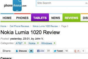 "PhoneArena: Nokia Lumia 1020 – ""Details are astoundingly sharp! Frankly, its quality is unrivaled at the moment!"""