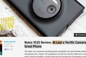 Gizmodo: Nokia Lumia 1020 – the best camera ever in a smartphone; At Last a Terrific Camera in a Great Phone