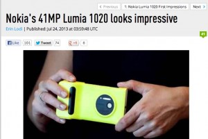 DPReview: Nokia Lumia 1020 looks impressive…just what we'd hoped!