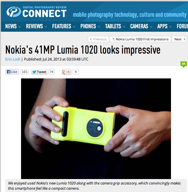 DPReview: Nokia Lumia 1020 looks impressive…just what we'd ...