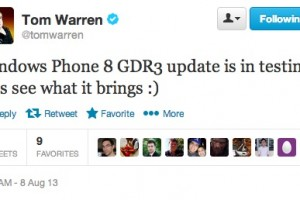 WP8 GDR3 is in testing says Tom Warren