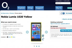 Nokia Lumia 1020, coming to O2 UK in September
