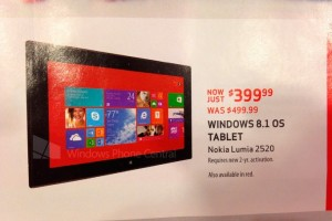 Lumia 2520, 1520 to Launch in US Nov 22nd Alongside Xbox One; $399 Black Friday Special on 2520?