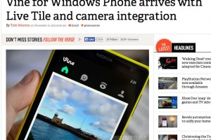 Official Vine Client arrives for WP, Nokia Lumia