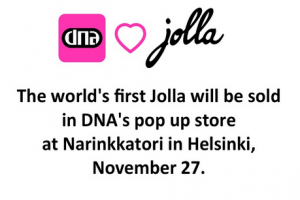 Jolla Will Start Selling Device on Nov 27 in DNA Pop Up Store at Helsinki