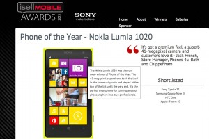 Sony Sponsored iSellMobile Awards crowns Nokia Lumia 1020 as Phone of the Year