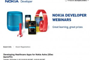 Developing Healthcare Apps for Nokia Asha Webinar starting 8am-9am now.