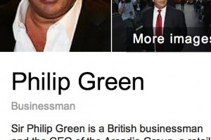 Sir Philip Green, one of Britain's richest men, prefers his Nokia