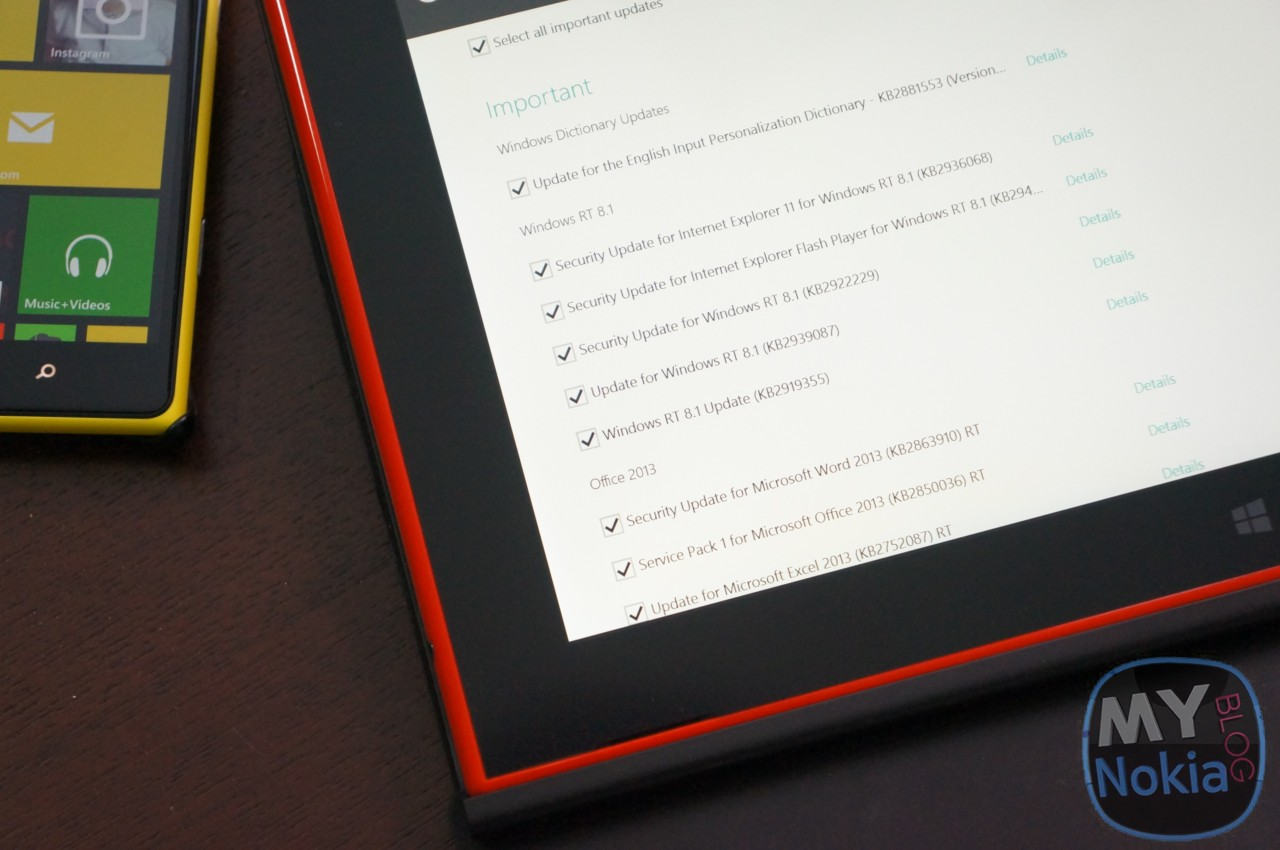 Update 1 for Windows 8.1 RT Now Available on the Lumia 2520