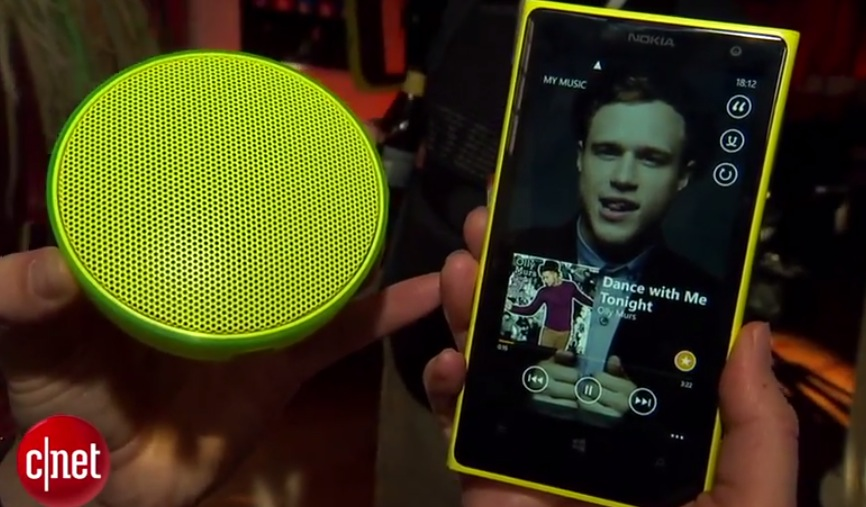 Video: Nokia MD-12 NFC bluetooth speaker hands on with microphone for calls