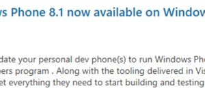 Microsoft Blog Confirms WP 8.1 Developer Preview Coming Today! #GetHype