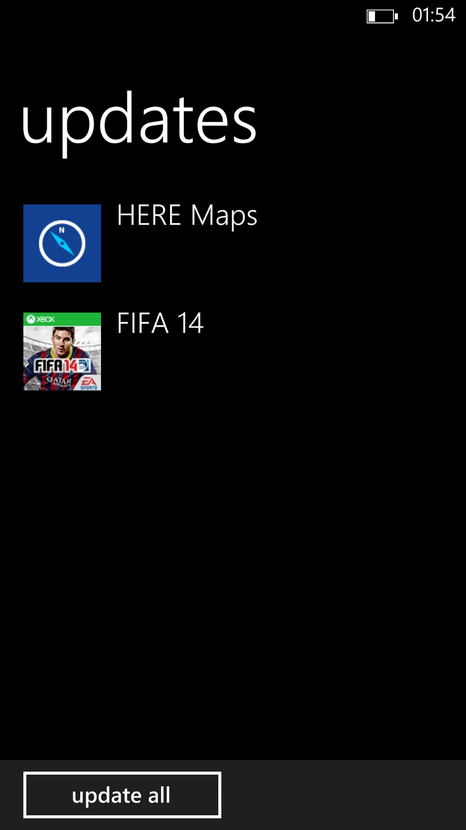 Lumiappdates: HERE Maps and FIFA 14