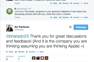 Nokia's Ari Partinen Moves To Apple