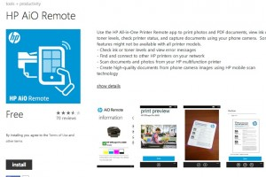 Lumiapps: HP Wireless Printing HP AiO Remote for WP8