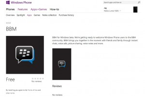 BBM, BlackBerry Messenger, available in store for Windows Phone (private beta)