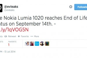 September 14th – End of Life status for Nokia Lumia 1020?