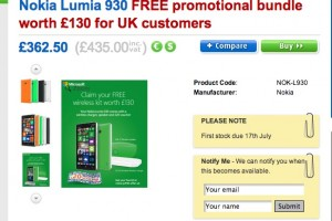Nokia Lumia 930 on Clove with £130 promotional offer and accessories