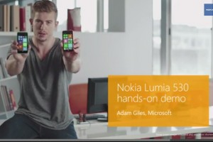 Adam Giles demoes the new Nokia Lumia 530, 4″ Polycarbonate, quad core and fixed focus camera