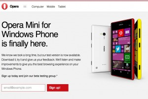 Woop! Opera Mini comes to Windows Phone – sign up for the beta today